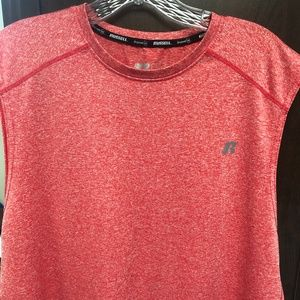 Red Russell Athletic Sleeveless Workout Shirt L